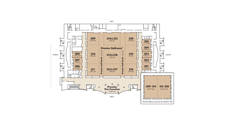 floorplans. meeting facilities  mgm grand las vegas